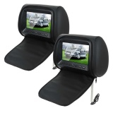 Buy Auto Car Suv Pvc Black 7 Inch Wide Screen Headrest Mp5 Player Lcd Monitor 12V Intl Online
