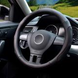 Latest Auto Steering Wheel Covers Diameter 15 Inch Pu Leather For Full Seasons Black