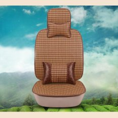 Price Bamboo Car Seat Full Seat Rattan Summer Mat Cooling Seat Cover For 5 Sits Size S Intl Online China
