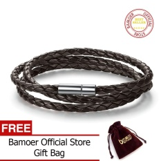 Bamoer Official Store Official Store 6 Color Wholesale Long Chain Adjustable Magnet Buckle Unisex Leather Bracelets For Women And Men Fashion Jewelry Pi0063 - Intl By Bamoer Official Store.