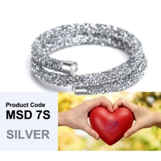 Baseor Crytal Stardust Magnetic Clasp Swarovski Inspired Bracelet Buy 1 Free 1 Intl Coupon Code