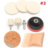 Beautymaker 8Pcs Glass Polishing Kit With Cerium Oxide Powder For Car Windscreen Scratch Remover 2 Intl Deal