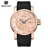 Benyar Luxury Brand Dragon Sculpture Date Men S Quartz Watch 30M Waterproof Silicone Strap Fashion Watch Relogio Masculino 5115 Intl Compare Prices