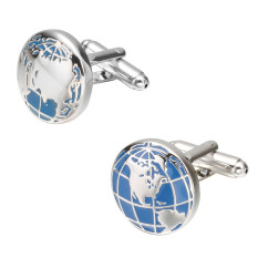 Blue Earth Instrument Cufflinks Big Brand French Long-Sleeved Shirt Sleeve Nail Shirt Accessories Cufflinks By Taobao Collection.