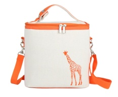 Bigood Thermal Insulated Lunch Box Tote Cooler Zipper Bag Bento Lunch Pouch Orange - intl