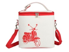 Bigood Thermal Insulated Lunch Box Tote Cooler Zipper Bag Bento Lunch Pouch Red - intl
