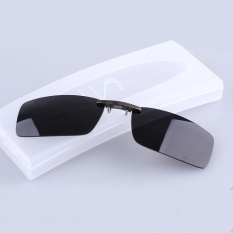 BIKIGHT Polarized Clip On Sunglasses Men Driving Night Vision Lens Sun Glasses Male Anti-UVA