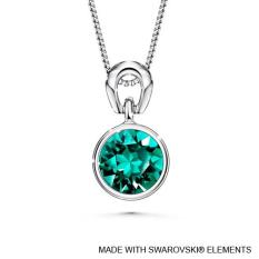 Price Birthstone Solitaire Pendant May Emerald Crystals From Swarovski® On Singapore
