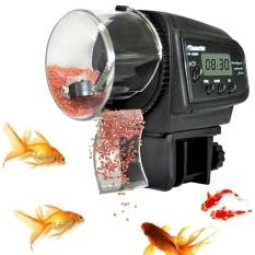 Who Sells Black Auto Automatic Fish Food Feeder Pond Aquarium Tank Feeding Lcd Screen Intl