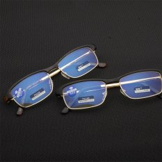 Buy Black Frame Retro Eyebrows Anti Blue Light Fatigue Coated Reading Glasses 2 Intl Cheap On China