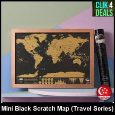 Low Cost Black Scratch Map Travel Series