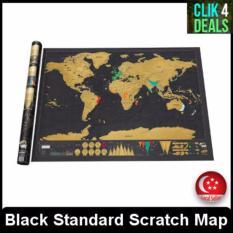 Black Standard Scratch Map
