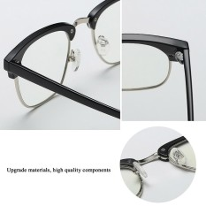 a41b7acf371 Blue Light Filter Block UV Transparent Lens Vintage Glasses Computer  Glasses Blue C182 - intl