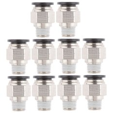 Top Rated Bolehdeals 10X Straight Connector Tube Od 12Mm To 1 4 Bsp Thread Pneumatic Air Fitting Export
