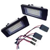 Best Price Bolehdeals Led License Plate Light 24 Smd Day White For Bmw E90 M3 E92 E70 E39 F30 E60 Intl