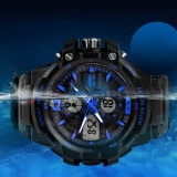 Low Price Skmeibrand Men Sports Fashion Alarm Wristwatches Digital And Analog Multifunctional Watches 0990 Intl