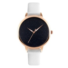 Brand Skmei Ultra Thin Rose Gold Case Hot Fashion Women White Leather Watchband Quartz Watch Casual Womens Watches 9141 Black White Intl Deal