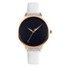 Brand Skmei Ultra Thin Rose Gold Case Hot Fashion Women White Leather Watchband Quartz Watch Casual Womens Watches 9141 Black White Intl Skmei Discount