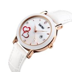 Price Skmeibrand Watch Fashion Waterproof Korean Double Heart Diamonds Single Calendar Belt Waterproof Female Watch 9144 Intl Bounabay China