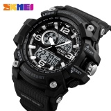 Promo Brand Watch Outdoor Sports Watches Men Fashion Multi Function Chronograph Digital Quartz Dual Display Wristwatches Relogio Masculino 1283 Intl