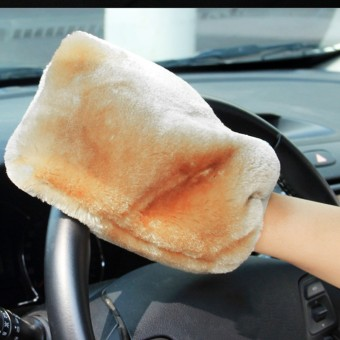 BU-Bauty NEW arrive 1Piece 22 X 17Cm Lambswool Wash Mitt Soft Sheepskin Car Cleaning Glove