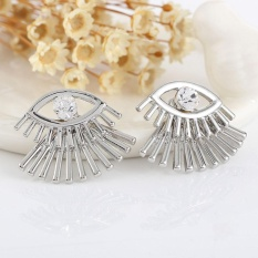 BUYINCOINS 1 Pair Fashion Women Lady Elegant Crystal Eye Eyelashes Ear Stud Earrings Charms Jewelry(