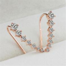 BUYINCOINS 1pcs Women Fashion Rhinestone Crystal Earring Ear Hook Stud Gold Silver Jewelry