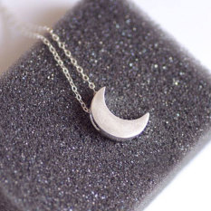 BUYINCOINS Fashion Women Silver Gold Alloy Chain Crescent Moon Pendant Necklace Jewelry Gold - intl
