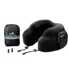 Cabeau Evolution Travel Pillow Black By X-Boundaries.