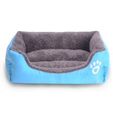 Review Candy Colored Square Pet Bed Blue Imixlot