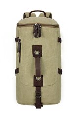 Price Comparisons Of Canvas Backpack Casual High Capacity Travel Bag Mountaineering Bag Green