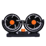 Best Rated Car 360 All Round Adjustable 2 Speed Strong Cooler Fan 24V Orange Black Intl