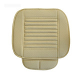 Great Deal Car Bamboo Charcoal Leather Seat Cushion Breathable Chair Cover Pad Beige Intl