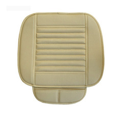 Who Sells Car Bamboo Charcoal Leather Seat Cushion Breathable Chair Cover Pad Beige Intl