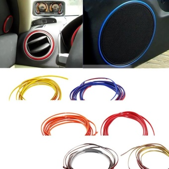 Car Decoratives 5m Flexible Trim Interior Exterior Moulding Strip Decorative Line For Car - Gold