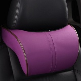 Buy Car Headrest Neck Pillow Leather Auto Neck Protection Rest Pillows For Seat Waist Supports Cushion Memory Cotton Purple Intl China