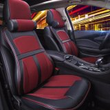 Sale Car Seat Covers Memory Foam And 3D Pu Leather Full Set 5 Seat Full Seasons Red Intl Lucasng Cheap