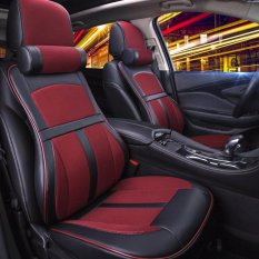 Price Car Seat Covers Memory Foam And 3D Pu Leather Full Set 5 Seat Full Seasons Red Intl Lucasng China