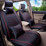 Buy Car Seat Covers Set Pu Leather Universal Auto Seat 5 Covers Full Set Bucket Anti Slip Black And Red Size S Intl Luowan Original