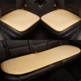 Car Seat Cushion Front And Rear Row Non Slip Fabric No Installation Interior Accessories Beige Intl China