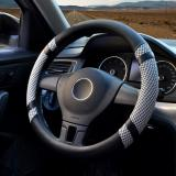 Car Steering Wheel Covers Diameter 15 Inch Pu Leather For Summer Gray In Stock