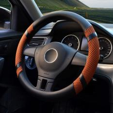 Car Steering Wheel Covers Diameter 15 Inch Pu Leather For Summer Yellow In Stock