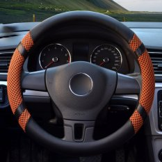 Review Car Steering Wheel Covers Diameter 14 Inch Pu Leather For Summer Yellow S Intl Yingjie