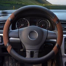 Car Steering Wheel Covers Diameter 15 Inch Pu Leather For Summer Coffee Intl Reviews