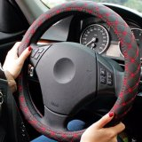Sales Price Car Steering Wheels Cover Pu Leather Red Wine Series For All Season Red String Size M Intl
