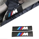 Best Price Car Styling Seat Belt Shoulder Pad Carbon Fiber Pu Leather M For Bmw X1 X3 X4 X5 X6 1Series 3Series 5Series 7Series M1 M3 M5 Intl