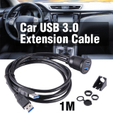 Best Price Car Truck Dashboard Panel Flush Mount Dual Usb 3 Socket Extension Cable Ma953 Intl