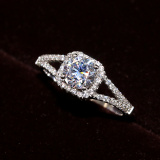 Store Carat S925 Sterling Silver Model Diamond Ring Oem On China