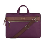 Low Price Cartinoe London Series Smooth Zipper Sleeve Luxury Hareware Nylon Portable Laptop Bags For Macbook Air 13 Inch Purple