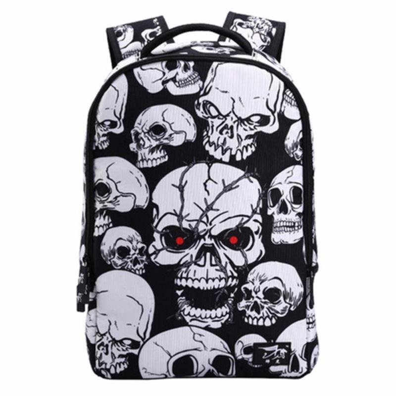 Cartoon Human Skeleton Printing Children Backpacks, School Bags For Teens , Cool Boy & Girl Rucksacks - intl